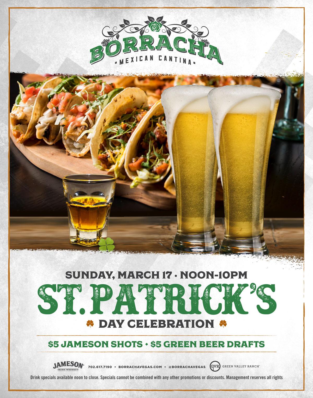st patrick's day at borracha